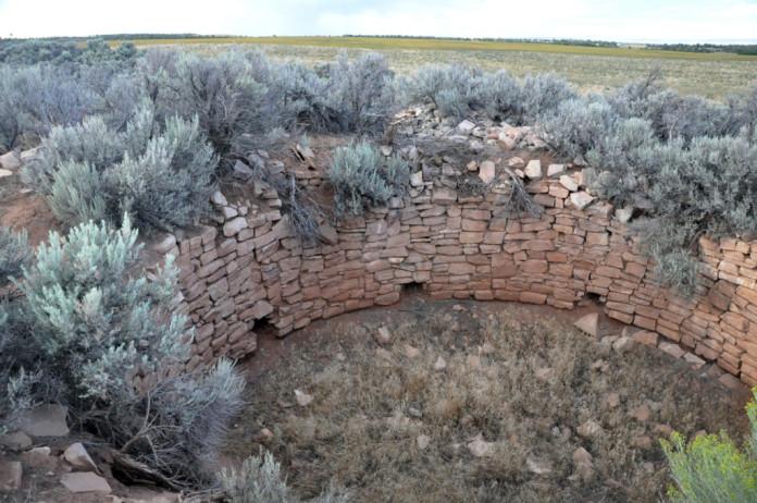 Carhart Peublo Kiva, prior to re-excavation.