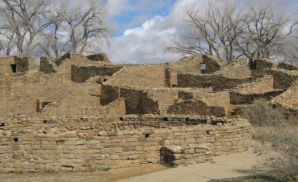 The West Ruin was the largest of the great houses at Aztec Ruins National Monument in New Mexico. It was a public building consisting of some 400 rooms. Credit: NPS