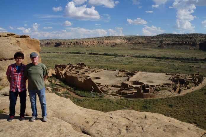 Visting the Past with the Future: Dr. Jim Judge visits Chaco Canyon with his grandson. Credit Jim Judge and Bliss Bruen.