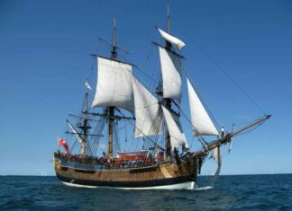 A full-size, seaworthy replica of HMS Endeavour is based at the Australian National Maritime Museum in Sidney. Credit: Australian National Maritime Museum.