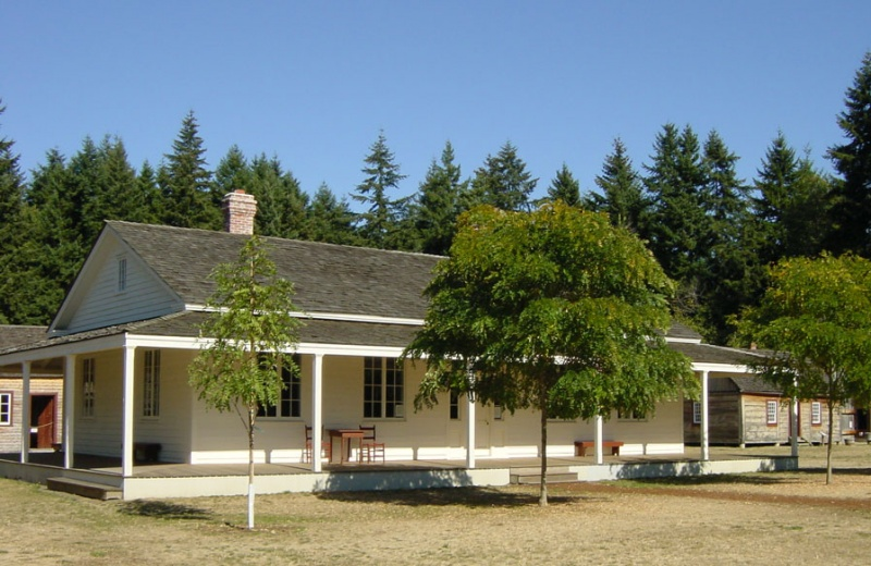 Fort Nisqually Factor's House as it appeared in 1855.  Photo  from 25 Sep 2005 John Stanton