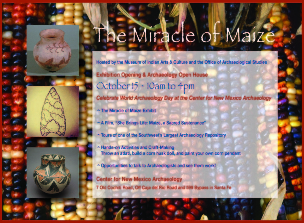 Miracle of Maize Exhibit Opening Celebration Center for NM Archaeology 2016