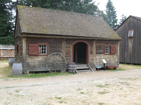 One of the Original Buildings Preserved at the Fort Nisqually Living History Museum, Point Defiance Park.