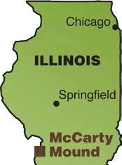 McCarty Mound, an unusual Woodland Period Mound, Lies in East St. Louis