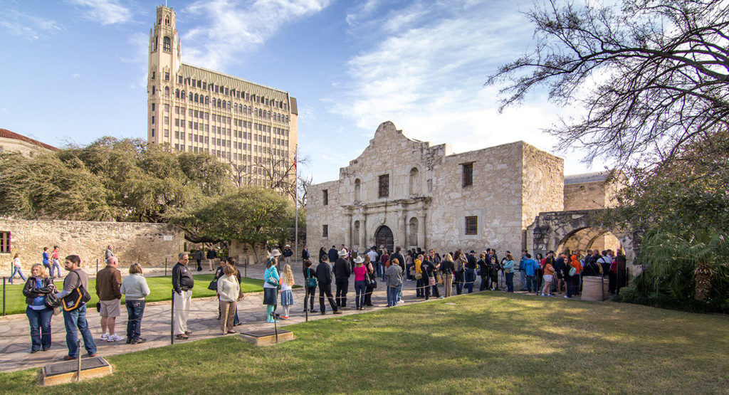 Roughly 1.5 million people visit the Alamo each year. Credit: Reimagine The Alamo