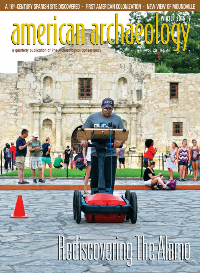 AA winter 2016-17 Cover. Rediscovering the Alamo