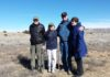 Gordon Wilson, TAC Chairman of the Board, visiting the Conservancy's 501st Saved Site with fellow board members, William 'Bill' Lipe and Carol Condie (left), and Dorinda Oliver (right). Photo: The Archaeological Conservancy.