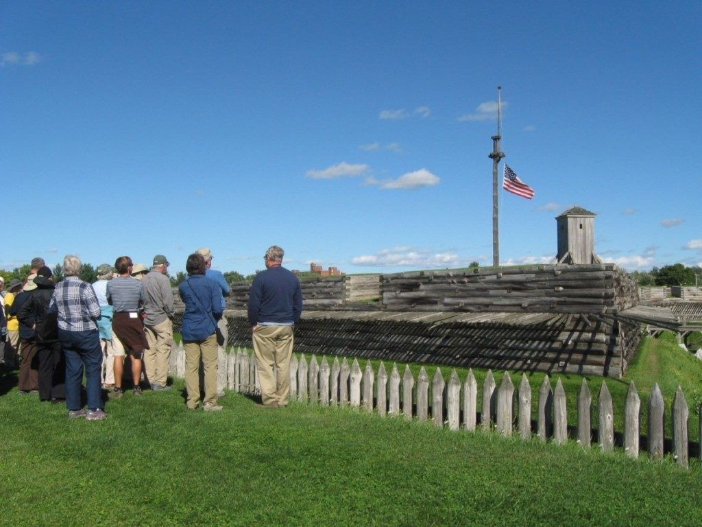 The group at Fort Stanwix National Monument in Rome, NY.
