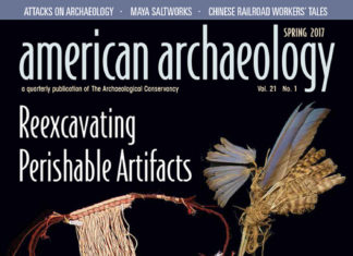 COVER: A feather bundle (upper right), a pair of tapestry-woven yucca sandals (below) and a woman's yucca-cordage apron with human-hair waistcord are some of the artifacts researchers have reexcavated. Credit: Courtesy of the American Museum of Natural History cat. # H-13338; the Museum of Peoples and Cultures, Brigham Young University cat. #1992.30.1 and .2; the Field Museum of Natural History cat. #165246/Laurie Webster