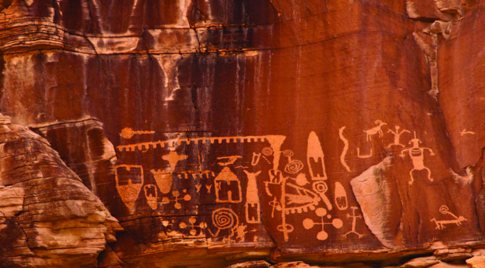 Former President Barack Obama designated Gold Butte a national monument to protect spectacular rock art panels like this one. There are people who opposed Obama's action. Credit: Kurt Kuznicki/Friends Of Nevada Wilderness