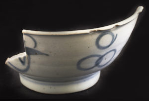 This Double Happiness bowl was also recovered from Terrace. credit: Chris Dunker