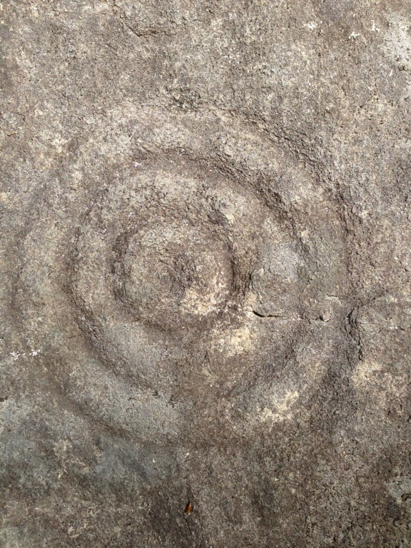 A Close Up of one of the many petroglyphs documented at the Terrarium site.  Photo The Archaeological Conservancy.