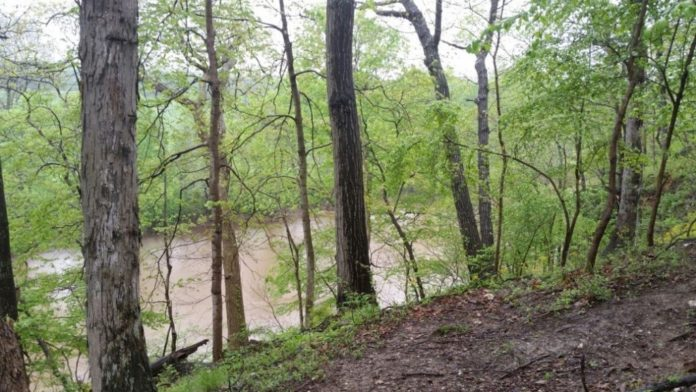 The MonocacyThe Monocacy River, a tributary of the Potomac River, flows next to the site.