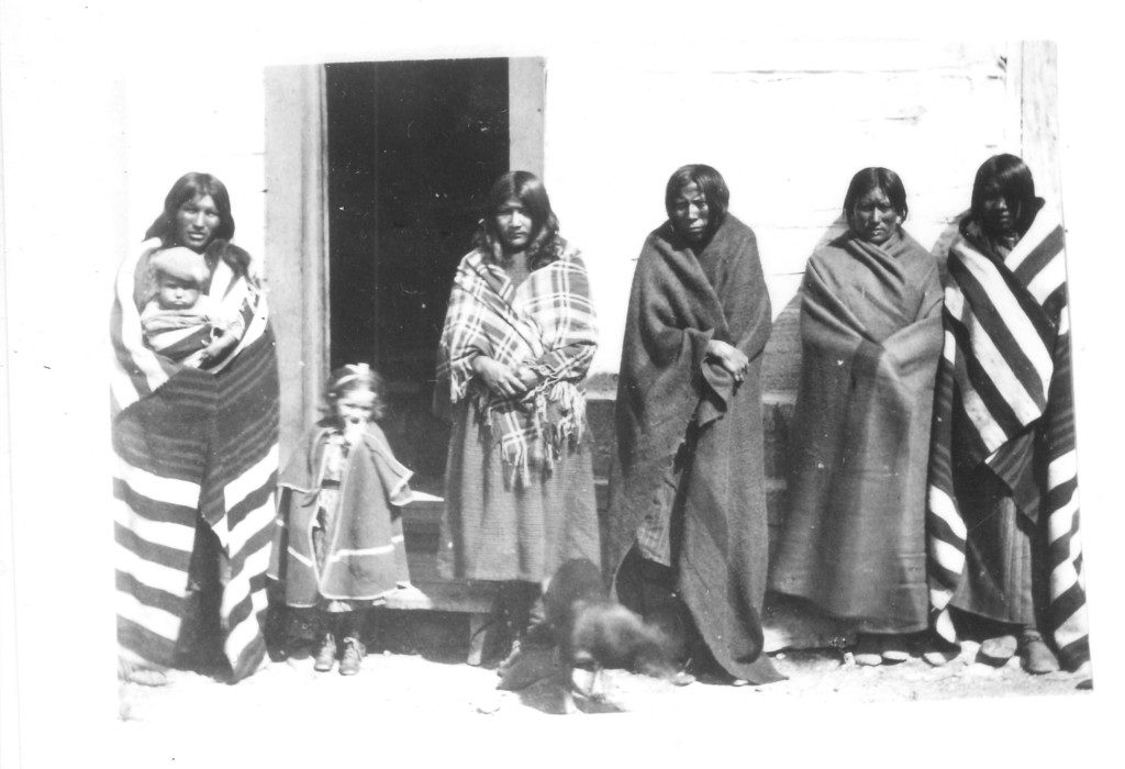 Historic Photo of the Crow People of Fort Parker, Montana in 1871.