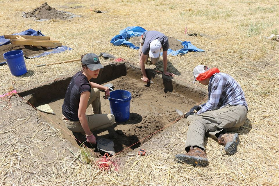 Excavations of Test pits begins. Credit: Binghamton University Fieldschool