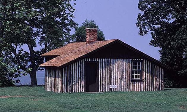 General Ulysses S. Grant made his headquarters at this cabin at Petersburg National Battlefield. Credit: NPS
