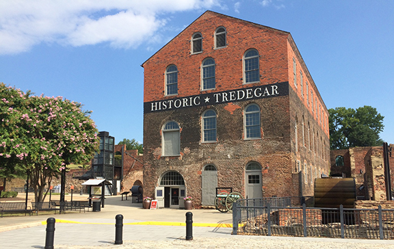 the Tredegar Iron Works building is found in Richmond National Battlefield Park. Credit: NPS/Kellogg.