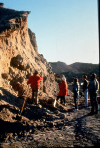 The remains of Buhl woman were recovered from the gravel quarry in 1989. Credit: Idaho State Historical Society.
