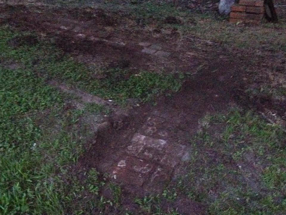 Remaining Foundations of the Kitchen Laundry Building. Photo The Archaeological Conservancy.