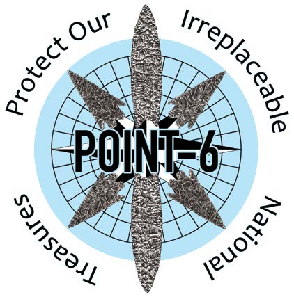 POINT 6 Logo Created by Artist Mathew Hanson-Weller featuring 6 hand drawn points.