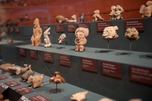 "These are some of the ocarinas on display in the exhibit ""Ocarinas of the Americas: Music Made in Clay"" at Harvard's Peabody Museum of Archaeology & Ethnology. Credit: Peabody Museum of Archaeology & Ethnology, Harvard University."