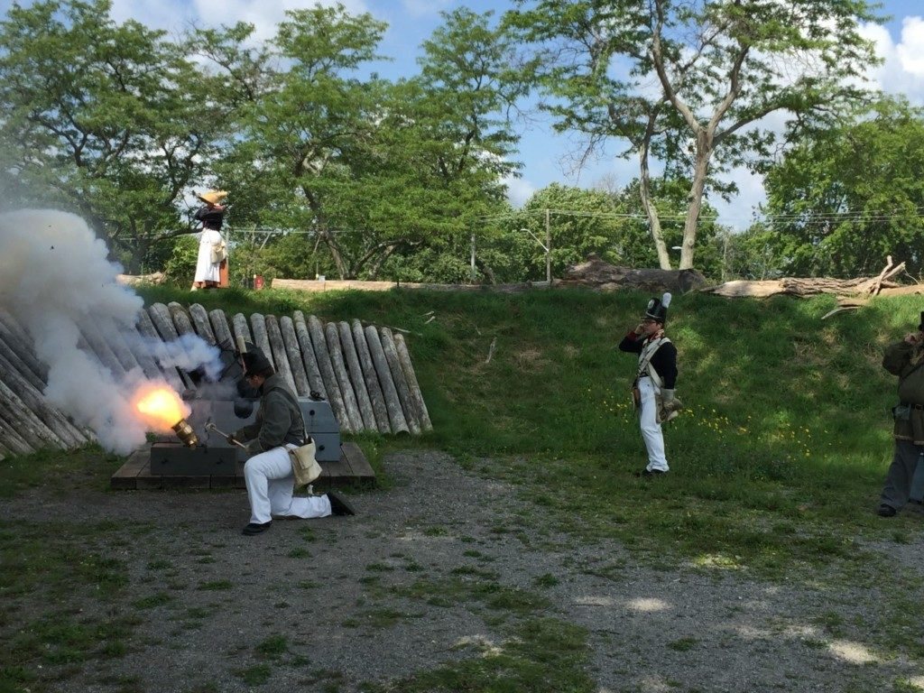 Our visit to the Old Fort Erie, located in the Niagara Peninsula, included a mortar firing demonstration.