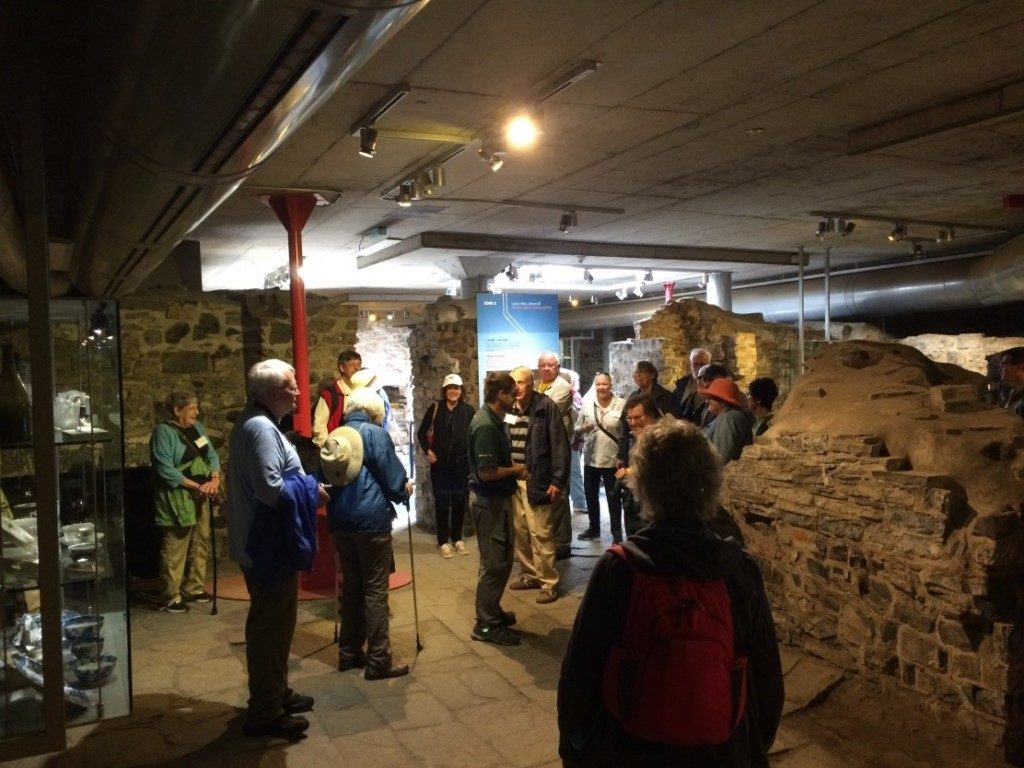We had the opportunity to go under the promenade in front of the Chateau Frontenac in Quebec to explore the archaeological remains of the original Governor's Palace.