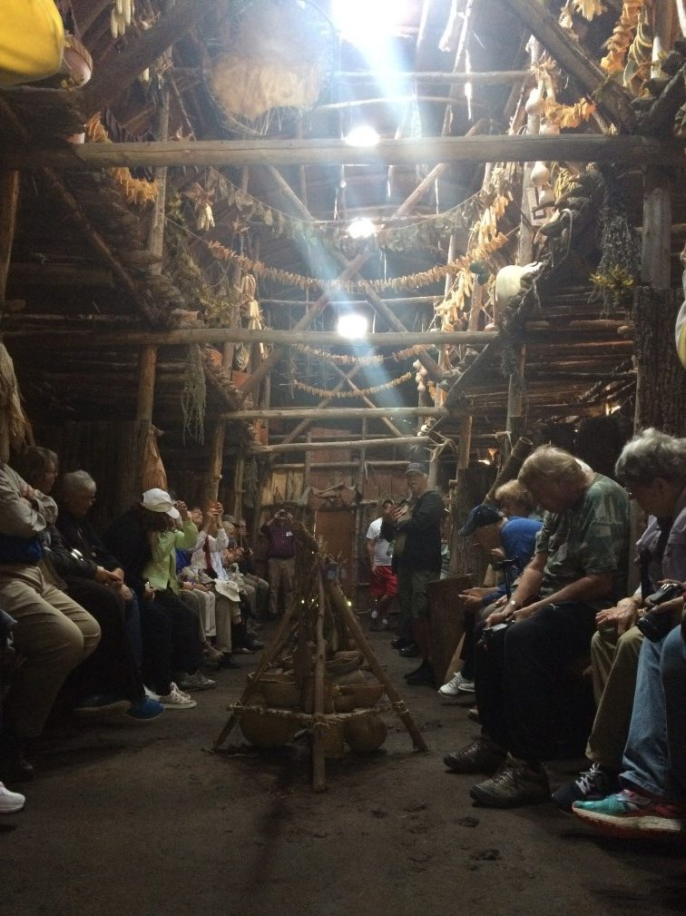 Inside one of the longhouses at the Droulers site.