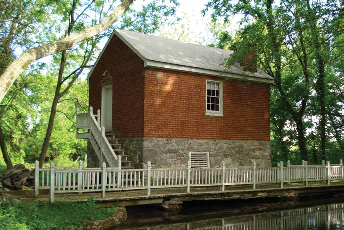 It's thought that the Ebbert Spring's historic springhouse could have once served as a private fort. Credit: The Archaeological Conservancy.
