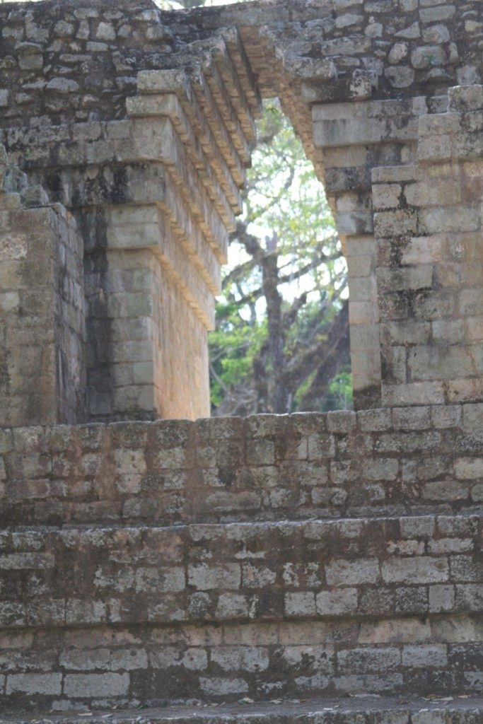 Window Into another World: Corbeled arch, Copan