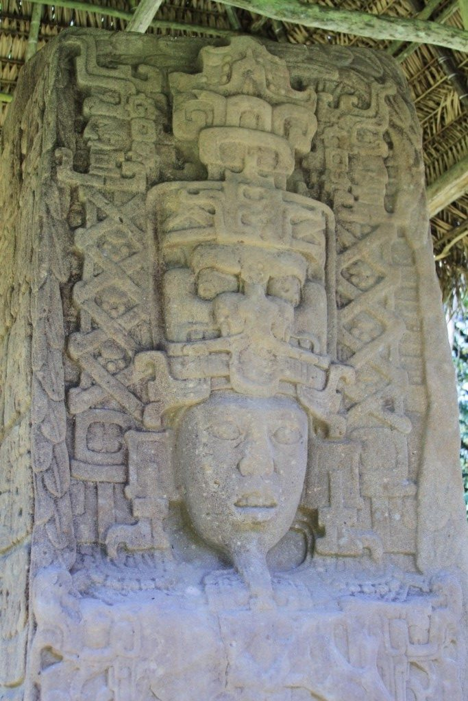 Detail of Monumental Stela, Quirigua