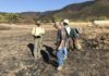 Dr. Gregory White and his team of volunteers surveys the fire landscape at Borax Lake.