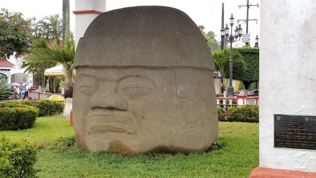 Famous Olmec head at Santiago Tuxtla.