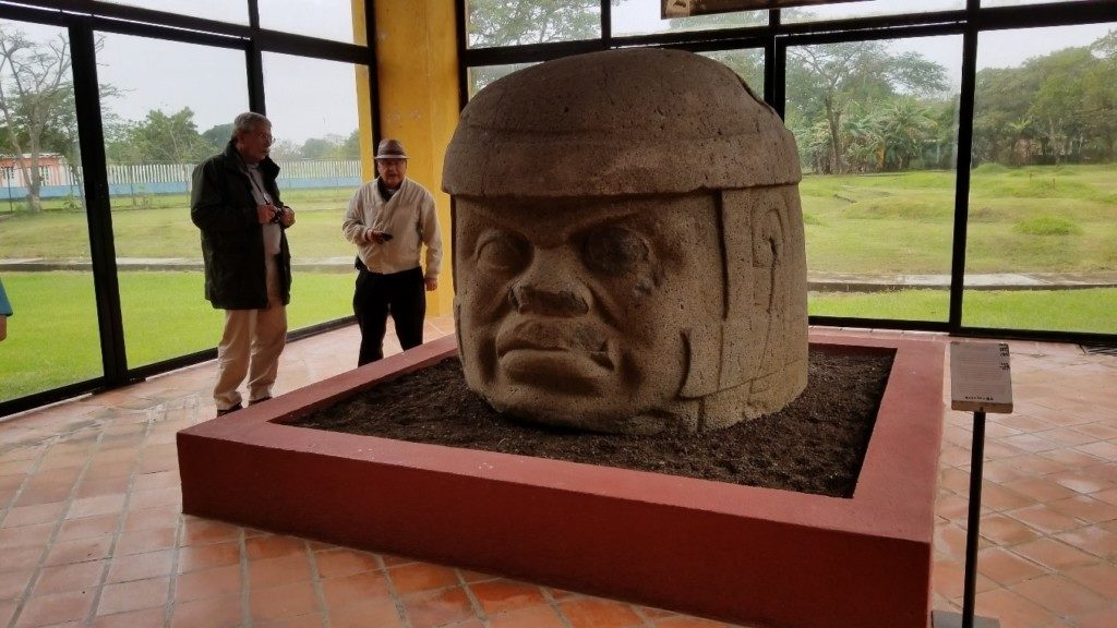 Olmec head at Tres Zapotes Archaeological Museum.