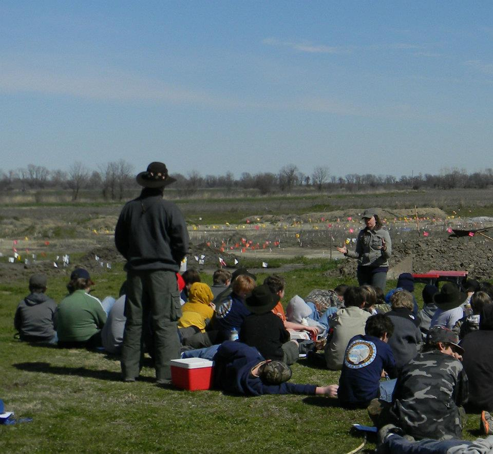Groups visiting the Carson Mounds locations preserved by the Archaeological Conservancy.