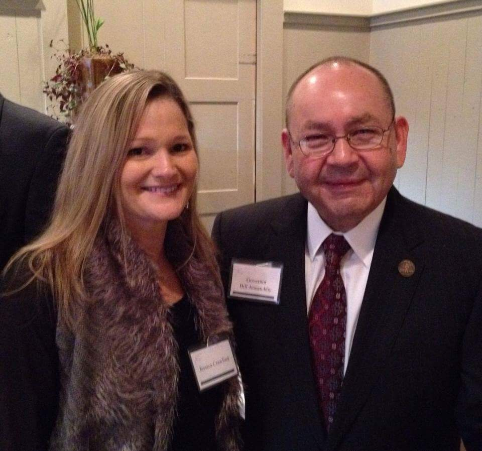 Jessica Crawford, TAC Southeastern Regional Director, and Chickasaw Nation Governor  Bill