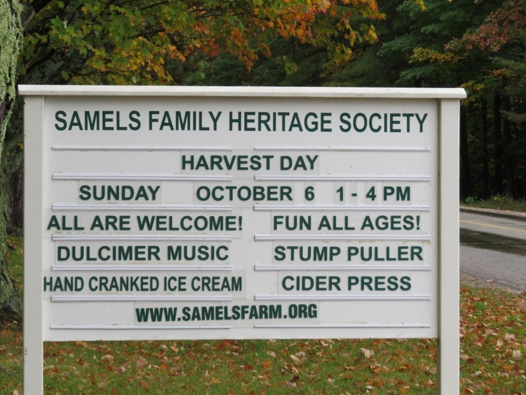 The annual Harvest Days event is a key public outreach activity of SFHS