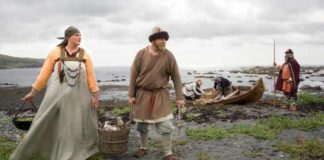 It's generally accepted that the Norse established a settlement at L'Anse aux Meadows around A.D. 1000. L'Anse aux Meadows is now a UNESCO World Heritage Site that features costumed interpreters. Credit: DALE WILSON © PARKS CANADA