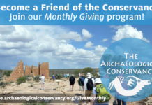 Become a Friend of the Conservancy today! Make a sustaining investment and Give Monthly
