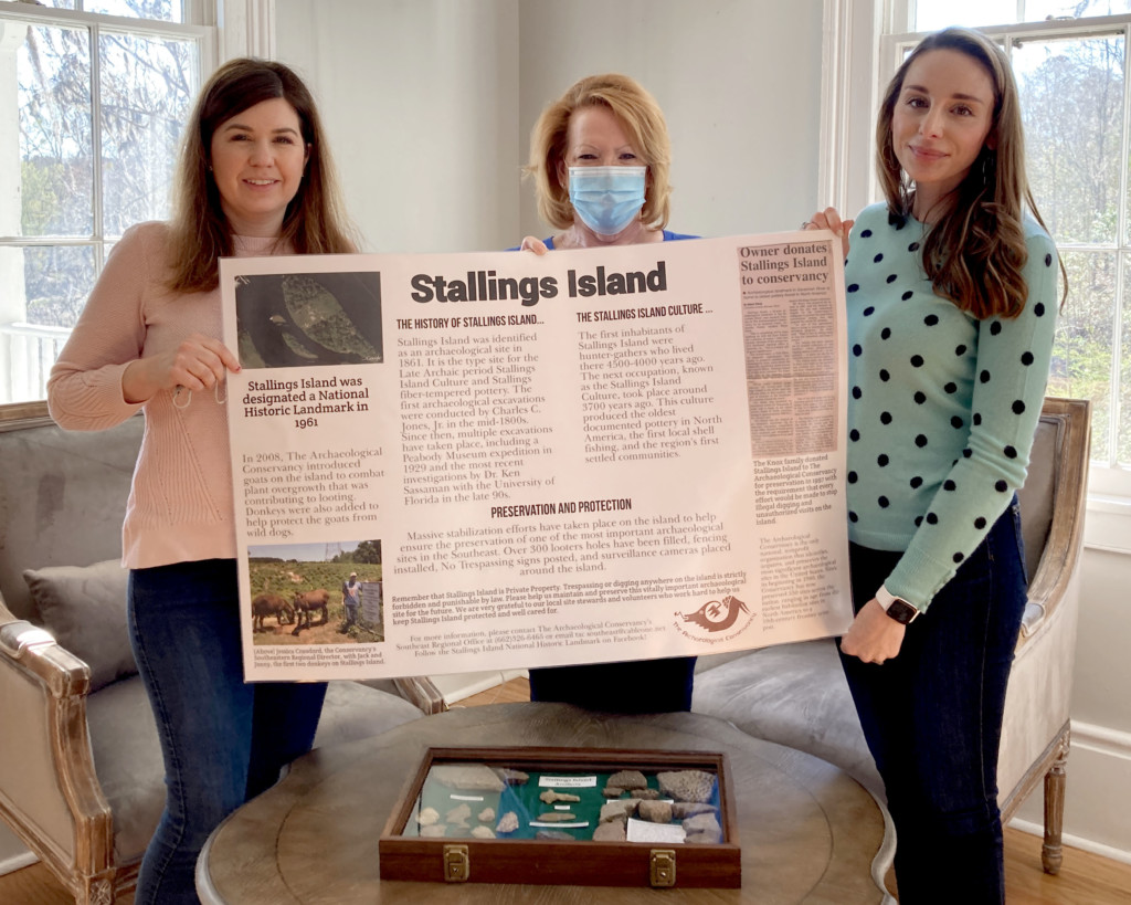 Stallings Island Poster at the Visit Center